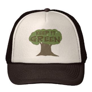 Gardez-le casquette vert