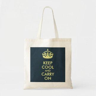 Gardez le cool et continuez le papier d emballage sac en toile
