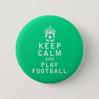 Gardez le football de calme et de jeu badges