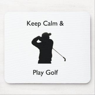 Gardez le golf de calme et de jeu tapis de souris