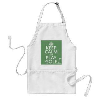 Gardez le golf de calme et de jeu - toutes les tablier