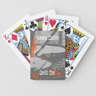 Gardez le gril calme dessus jeu de cartes