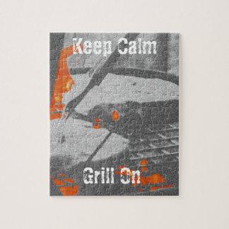 Gardez le gril calme dessus puzzle