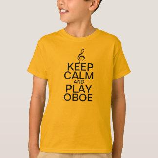 Gardez le hautbois de calme et de jeu t-shirt
