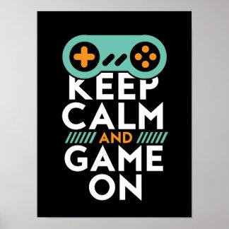 Gardez le jeu calme sur l'affiche pour le geek de poster