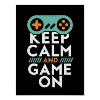 Gardez le jeu calme sur l'affiche pour le geek de posters