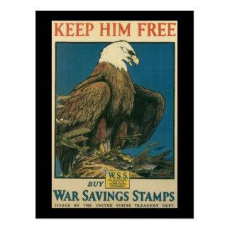 Gardez-le librement la deuxième guerre mondiale cartes postales