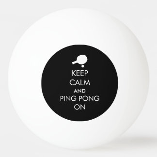 Gardez le ping-pong calme dessus balle tennis de table