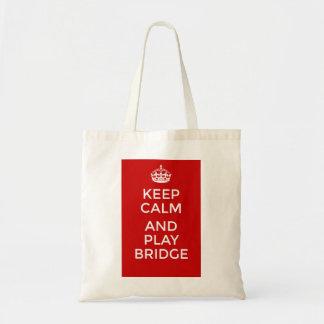 Gardez le pont de calme et de jeu sac en toile