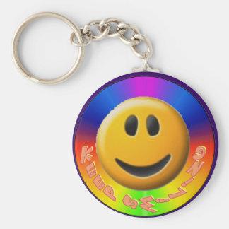 Gardez le porte - clé de sourire porte-clé rond