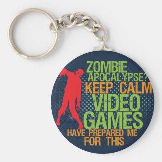 Gardez le porte - clé drôle de Gamers d'apocalypse Porte-clé Rond