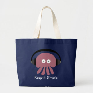 Gardez-le sac simple de plage de méduses du DJ