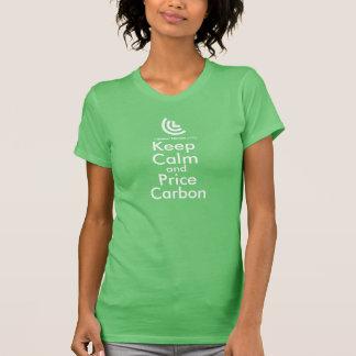 Gardez le T-shirt de dames de carbone de calme et