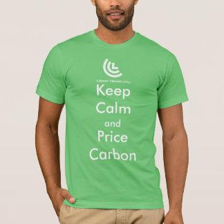 Gardez le T-shirt des hommes de carbone de calme
