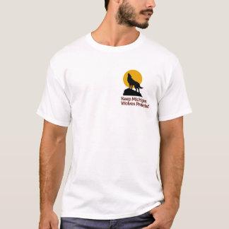 Gardez le T-shirt protégé par loups du Michigan