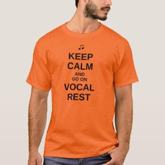 """""""Gardez"""" le T-shirt vocal calme de repos - texte"""