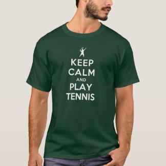 Gardez le tennis de calme et de jeu t-shirt