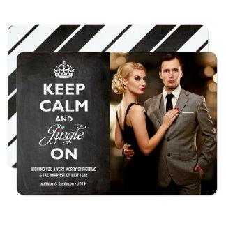 Gardez le tintement calme sur le carte photo de carton d'invitation  12,7 cm x 17,78 cm