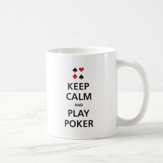 Gardez le tisonnier de calme et de jeu mug