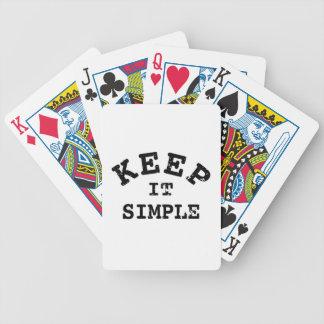 Gardez-le typographie simple cartes à jouer