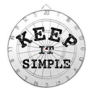 Gardez-le typographie simple jeu de fléchettes