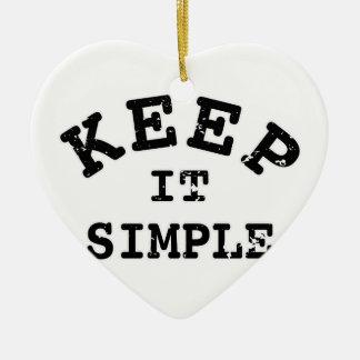 Gardez-le typographie simple ornement cœur en céramique