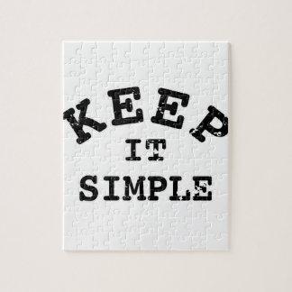 Gardez-le typographie simple puzzle