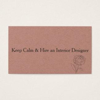 Gardez les cartes de visite calmes