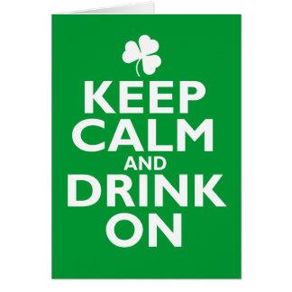 Gardez l'humour calme de Jour de la Saint Patrick Carte De Vœux