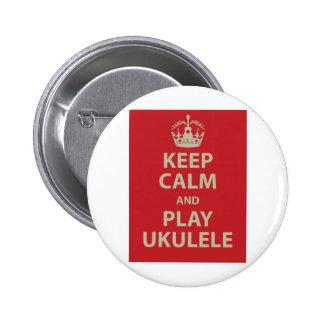 Gardez l'ukulélé de calme et de jeu pin's