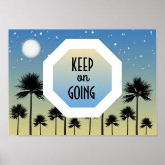 Gardez sur l'affiche de motivation allante poster