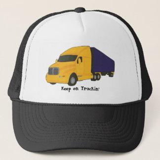 Gardez sur le camion de remorque de tracteur de casquette