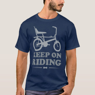 Gardez sur l'équitation - T-shirt de bicyclette de