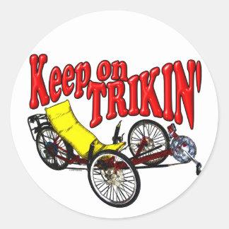 Gardez sur Trikin Sticker Rond