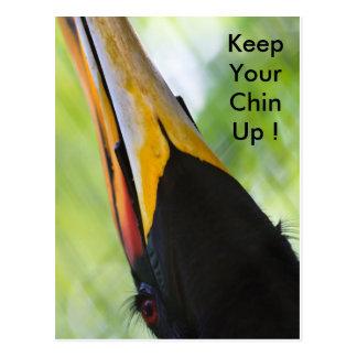 Gardez votre menton, carte postale