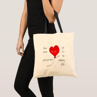 Gardez votre sac de chrétien de coeur