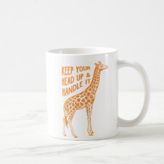 Gardez votre tête vers le haut de tasse de café de