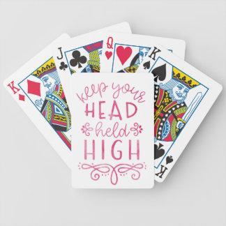 Gardez votre typographie de motivation élevée jeux de cartes