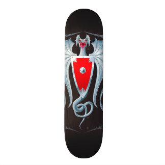 Gardien argenté de bouclier de dragon skateboards personnalisables