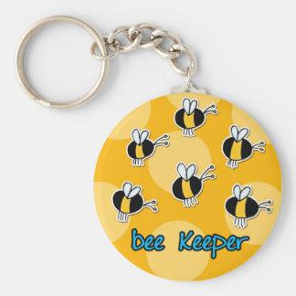 gardien d'abeille porte-clé rond