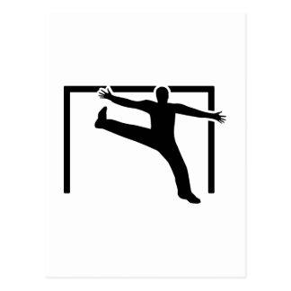 Gardien de but de handball carte postale