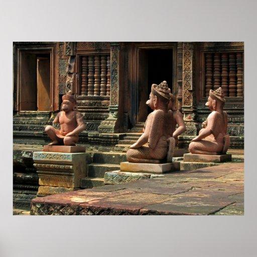Gardiens de temple de Banteay Srei Affiche