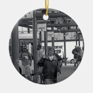 Gare routière de Hamilton 02 Ornement Rond En Céramique