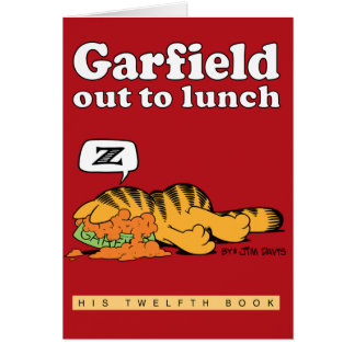 Garfield à déjeuner carte de note