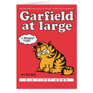 Garfield à la grande carte de note