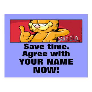 Garfield Logobox sont d'accord avec moi des cartes Cartes Postales