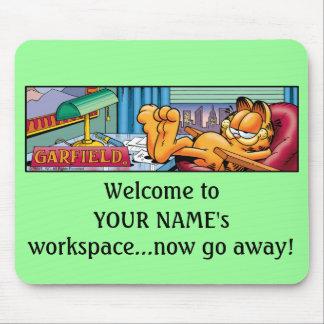 Garfield Logobox vont maintenant Mousepad parti Tapis De Souris