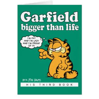 Garfield plus grand que la carte de note de la vie
