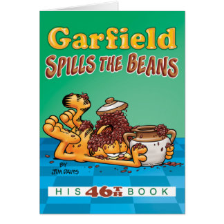 Garfield renverse la carte de note d'haricots