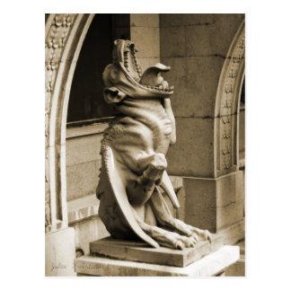 Gargouille gothique cartes postales